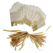 Imported Gold Ribbon Wedding Favor Boxes Candy Gift Boxes Paper Bags Pack of 50pcs