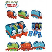 Fisher-Price Set of 3: My First Thomas & Friends Rattle Rollers - Thomas, Percy and James Multiple Ways to Play, Roll Them Along, Hear Rattle, Connect Front-to-Back Or Side-to-Side