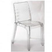 Set de 2 scaune HoReCa interior-exterior, DIAMOND-TR transparent 537.SDIAMTR SDM