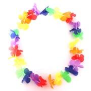 60 Colares Havaianos de Tecido - Colorido