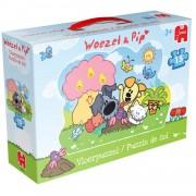 Jumbo Woezel & Pip vloerpuzzel 15 stukjes