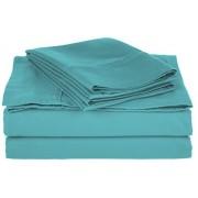 Impressions TLSKSHSL800CR Cotton Blend 800 Thread Count, Deep Pocket, Soft, Wrinkle Resistant Split King Bed Sheet Set, Solid, Teal
