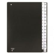 Előrendező, A4, 1-31, karton, DONAU, fekete (D8696FK)