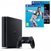 Конзола PlayStation 4 Slim 500GB Black, Sony PS4+Игра FIFA 19 за PlayStation 4+Игра Star Wars Battlefront II за PlayStation 4