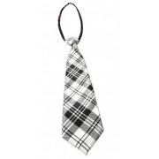 Krawat szary w kratkę