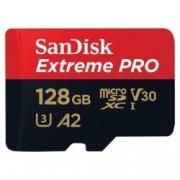 128GB microSDXC, Sandisk Extreme Pro с адаптер, Class 10 UHS-1 U3, скорост на четене 170MB/s, скорост на запис 90MB/s