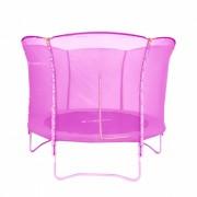 Trambulina cu plasa de protectie inSPORTline roz 183 cm