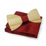 Dřevěný motýlek s kapesníčkem Gaira 709009