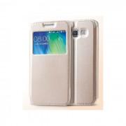 "Capa ""Flip Book Window"" KLD SUN Samsung Galaxy J7 (Samsung J700) Dourado em Blister"
