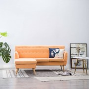 vidaXL Ъглов диван, тапицерия от текстил, 171,5x138x81,5 см, оранжев