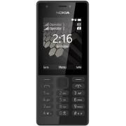 Telefon Mobil Nokia 216, Dual Sim (Negru) + Cartela SIM Orange PrePay, 6 euro credit, 6 GB internet 4G, 2,000 minute nationale si internationale fix sau SMS nationale din care 300 minute/SMS internationale mobil UE