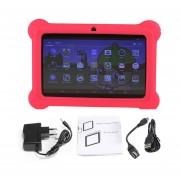Q88 Niños Tablet De 7 Pulgadas, 512 MB+4GB33 Quad Core Android 4.4 Tablet PC Rojo