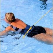 Edzéssegítő gumi kötél 5m hosszú 9mm átmérőjű gumicső ,derékra csatolható ellenállás, úszáshoz, hely