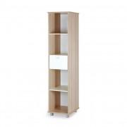 Klups Szafari/Nyuszi nyitott állószekrény - fehér&hamu !! kifutó !!