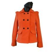 Dámský vlněný členěný kabát do pasu Exclusive