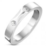 Ezüst színű nemesacél gyűrű cirkónia kristállyal-7