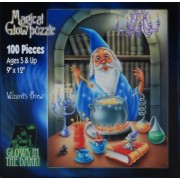 Magical Glow in the Dark 100 Piece Puzzle - Wizard's Brew by Magical Glow in the Dark Puzzle Magic