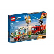 Set de constructie LEGO City Stingerea incendiul de la Burger Bar
