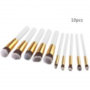 ER 10 Pcs Brush Set Maquillaje Powder Foundation Blusher Herramientas Pinceles Cosméticos