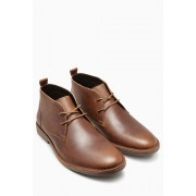 Mens Next Leather Desert Boot - Tan