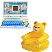 Children combo English Learner Laptop and Intex teddy chair