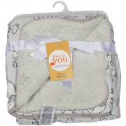 BABY BLANKET GREY-WHITE-GREY