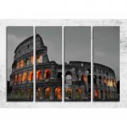 Tablou Roma Colosseum canvas 4 piese 120 x 80 cm