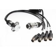 Štvorkáblový propojovací kabel k couvací kameře - 4pin
