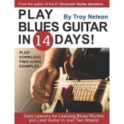 Play Blues Guitar in 14 Days: Daily Lessons for Learning Blues Rhythm and Lead Guitar in Just Two Weeks!, Paperback/Troy Nelson