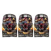 Mega Bloks Halo (3 Packs) Series 6 Mini Figure Blind Bags Mystery Pack (Total of 3 Packs)