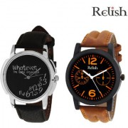 Relish RE-SHOP-010 Analog Round Casual Wear Watches Combo for Mens