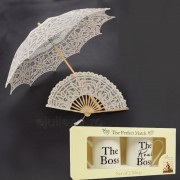Umbrela evantai dantela cani pentru miri
