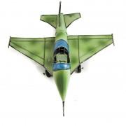 Avion verde, macheta decorativa din metal
