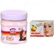 Pink Root Mix Fruit Bleach 50g and Pink Root Garlic Hair Mask 500ml