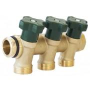 Distribuitoare Herz pentru instalații sanitare cu 3 circuite, DN 20, PN 10, cod 2 8530 03