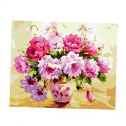 ELECTROPRIME® Unframed Digital DIY Paint by Number Kit Oil Painting on Canvas - Flower #1