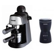 Pachet espressor Zass ZEM 05 cu rasnita Zass ZCG 05 (Negru-Inox)