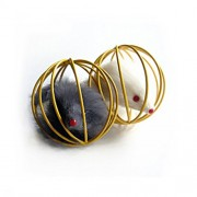 Ball Shaped Cage with Prisoned Toy Mouse for Cat Cat Toy (Random Color)