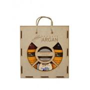 Set cadou Azbane, Argana (Lotiune de corp cu ulei de argan, 400 ml + Crema hidratanta, 100 ml + Sapun lichid, 400 ml)