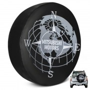 Capa De Estepe Pajero Full Estampa Mitsubishi Motors PVC