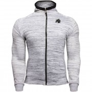 Gorilla Wear Keno Zipped Hoodie - White/Black - S