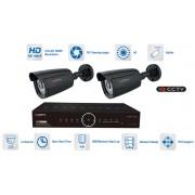 Kamerový systém AHD 2x kamera 1080P s 20m IR a hybridní DVR
