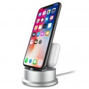 Suporte de Carregamento 2-em-1 - iPhone XS Max/XS/XR, AirPods, Apple Pencil