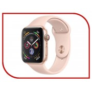 Умные часы APPLE Watch Series 4 44mm Gold Aluminium Case with Pink Sand Sport Band MU6F2RU/A