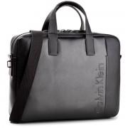 Laptoptáska CALVIN KLEIN BLACK LABEL - Elevated Logo Slim L K50K503613 001