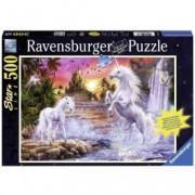 RAVENSBURGER puzzle (slagalice)- jednorog na reci RA14873