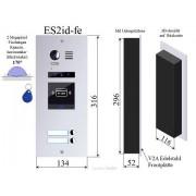 Anykam ES2ID Edelstahl Aussenstation mit RFID f Video Türsprechanlage