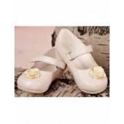 Pantofiori botez bebe fetite eleganti ivoire Numarul 18 11.5 cm
