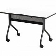 Safco Rumba Rectangular Nesting Table - 48Inch x 24Inch, White/Black, Model 2039DWBL