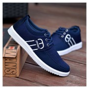 Zapatos Para Hombre De Encaje De Deportes - Azul